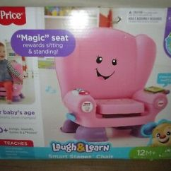 Fisher Price Laugh And Learn Chair Pink Design Cardboard Smart Stages Brand New Nib Fast Shipping