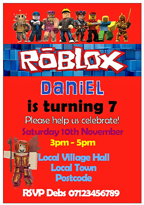 birthday invitations roblox quantity