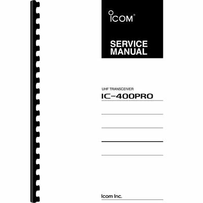 ICOM IC-400PRO UHF Transceiver Service Manual (Pages: 36