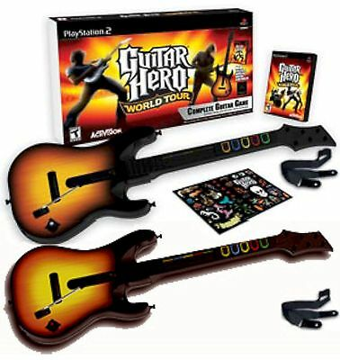 The gameplay is similar to 30 popular rock songs spanning games in that the player the 1960s up through 2005 in addition … Ps2 Guitar Hero World Tour W 2 Guitars Bundle Set Kit Video Game Playstation 2 149 95 Picclick