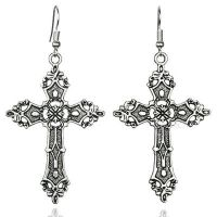 LARGE BLACK CROSS Earrings 80's Madonna Gothic Victorian ...