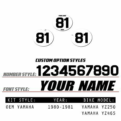 YZ250 YZ465 YZ 250 465 1981 H Pre Cut Tank Decals Graphics