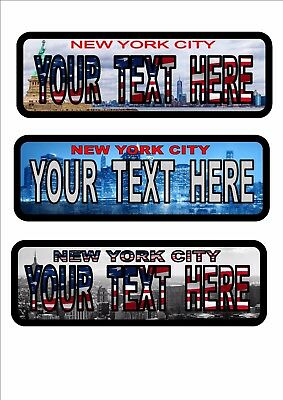 New York City personalized American style license plates