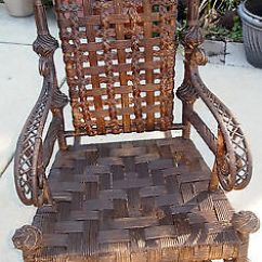 Heywood Wakefield Wicker Chairs Personalized Toddler Rocking Chair Antique Rattan Ca 1900 Rocker Orig Label