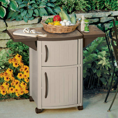 outdoor kitchen storage cart speed racks for island serving plastic small wheels deck rolling