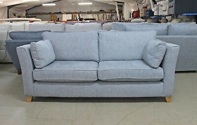 grey fabric sofa next extra long modern sofas farrell texture weave light large 3 seater low tapered