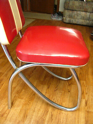 chrome kitchen chairs small appliance four vintage 1950s mid century retro rare find