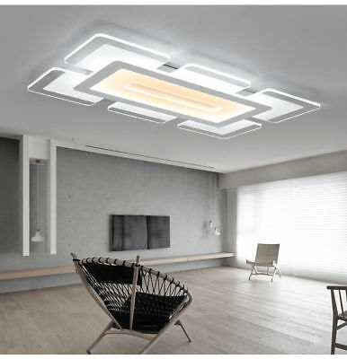 led ceiling light living room lighting for acrylic home lamp modern elegant rectangular bedroom chandelier