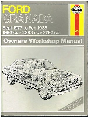 ford granada mk2 wiring diagram canine eye right 2 0 3 saloon estate 1977 79 owners 8 petrol 1985 repair manual