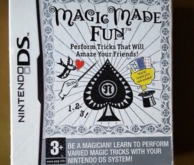 Nintendo Ds Game Cartridge Magic Made Fun Complete With Pack Of Cards