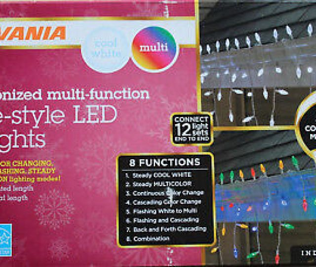 Sylvania  Count C Icicle Led Christmas Lights  Function Color Changing
