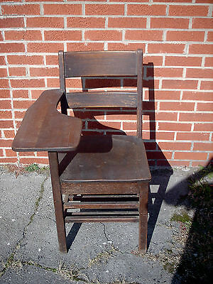 chair connected to desk craftmaster and a half vintage childs oak wood school with