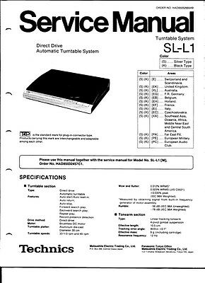 SERVICE-MANUAL TECHNICS SL-J11 Plattenspieler,ORIGINAL