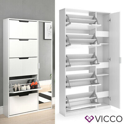 meuble a chaussures vicco luca grand 5 tiroirs etagere a chaussures rangement