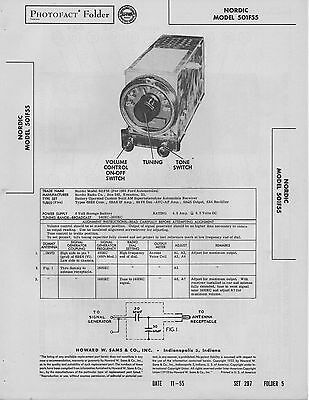 1955 GRANCO 610 Radio Service Manual Photofact Schematic
