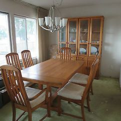 Oak Dining Set 6 Chairs Best Easy Clean High Chair Vintage Broyhill Table Modern Excellent Condition Mcm
