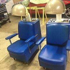 Dryer Chairs Salon Pedicure Package 2 Vintage Hooded Hair Beauty Shop Equipment Blue