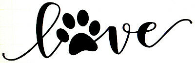 Download VINYL CAR DECAL Love Paw Print Pet Rescue Dog Cat Puppy ...