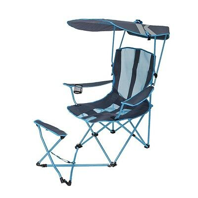 super brella chair fancy covers sport portable sun shelter weather umbrella recliner folding kelsyus original 50 upf canopy shade camping with ottoman blue