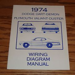Dodge Dart Wiring Diagram Massey Ferguson 135 Gearbox 1974 Demon Plymouth Valiant Duster Manual 74