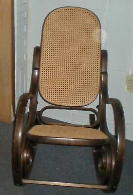 bentwood cane seat chairs posture chair corrector antique back rocking 45 99 picclick