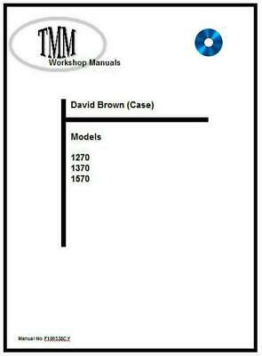DAVID BROWN WORKSHOP Manual 1190-1194-1290-1294-1390-1394