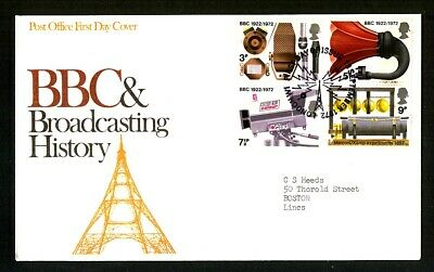 1972 BBC & Broadcasting History Post Office First Day Cover London W1 Postmark