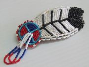 beaded smudge feather cad 45.00
