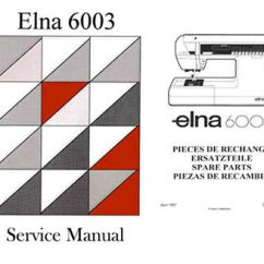 Elna Sewing Machine Parts Diagram Car Tow Bar Wiring 6003 Quilter S Dream Instructions Or Service Manual Cd Dwnld