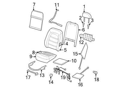 GENUINE FORD 1L3Z-1862648-AA Front Seat Back Latch W