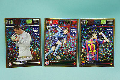 Panini Adrenalyn XL FIFA 365 3er Set Limited Edition Neuer Neymar Ronaldo