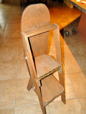 chair step stool ironing board folding beach chairs at target vintage solid wood 55 00