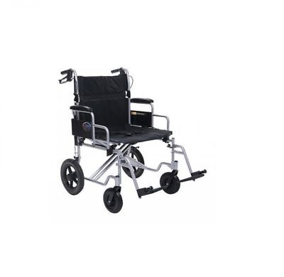 bariatric transport chair 500 lbs dining chairs leather heavy duty wide folding wheelchair 22 inch seat 24 mobility patient transfer 400 weight capacity