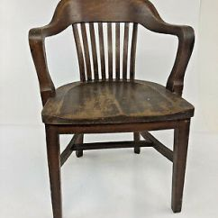 Sikes Chair Company Pier 1 Directors Vintage Wood Banker Antique Office Industrial Wooden Arm Lawyer Loft