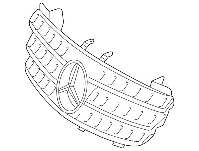 MERCEDES-BENZ GL-CLASS GENUINE Front Grille Assembly NEW