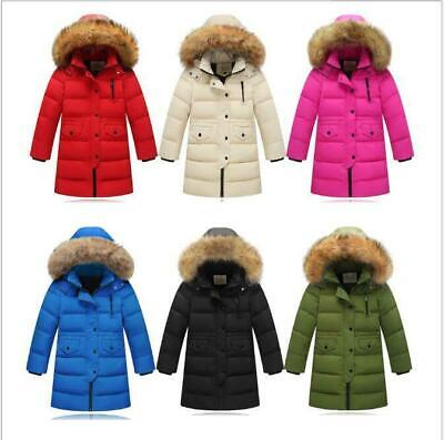 New children boys girls coat hooded parka winter jacket down jacket size 98-158