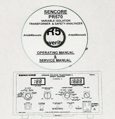40 SENCORE MANUALS, 6 Catalogs pdf on CD SG165, SG80, PA81