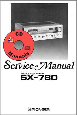pioneer radio manual 2003 audi a6 wiring diagram sx 780 cd service owners stereo receiver 2 owner s manuals