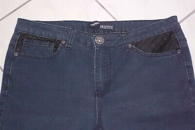 Arizona ladies pants jeans look stretch with leather inserts blue Gr.  40 - see dimensions