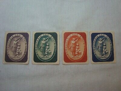 THE UNITED STATES FAIRNESS Life Insurance Co. lot of 4 poster stamps cinderellas