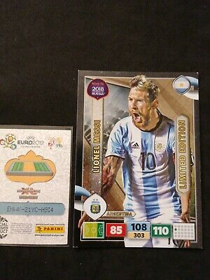 Adrenalyn XXL 2018 road to World cup Limited edition Messi