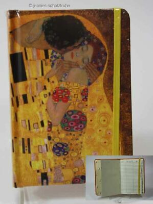 Address book Telephone book with register * KLIMT * DER KISS * with elastic band