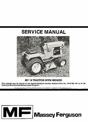 MASSEY FERGUSON MF14 MF-14 Garden Tractor Parts Manual 651