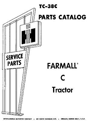 IH Farmall Super C Owner Service Manual Parts Catalog