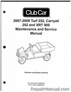 CLUB Car Turf 2 Carryall XRT Petrol Golf Buggy / Gator