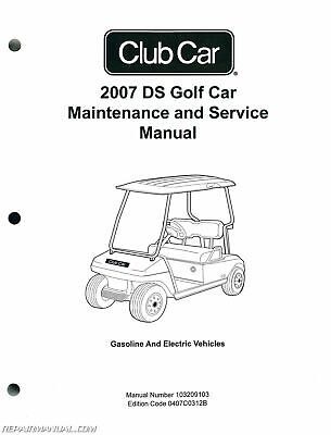 HARLEY DAVIDSON ELECTRIC Golf Cart Manual With Bonus