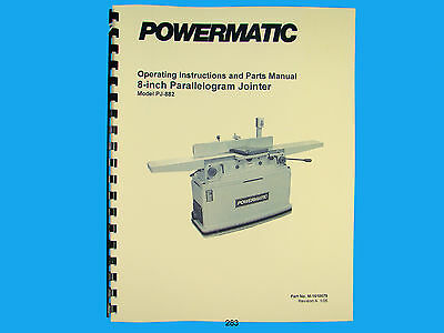 Powermatic Model 50 Jointer Parts