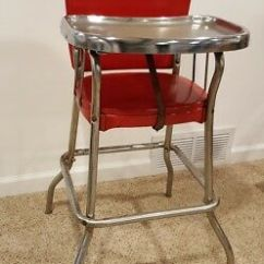 Retro High Chairs Babies Marshmallow Toddlers Chair Blogs Workanyware Co Uk Vintage Classic Red Cosco Chrome Metal Stainless Tray Rh Picclick Com Back