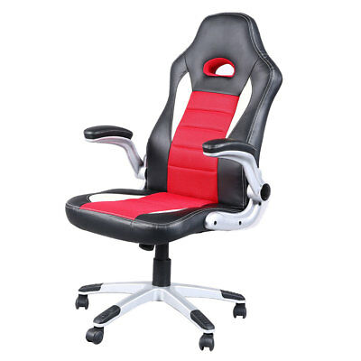 reclining gaming chair ergonomic diy executive racing style high back office computer seat red