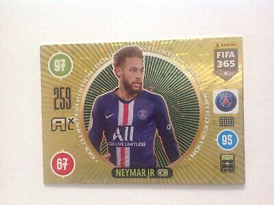 Panini Fifa 365 Adrenalyn XL 2021 Gold Limited Neymar Jr